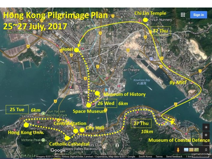 Hong Kong Pilgrimage Plan1