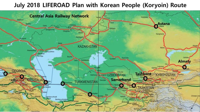 LIFEROAD Plan with Korean People (Koryoin) Route