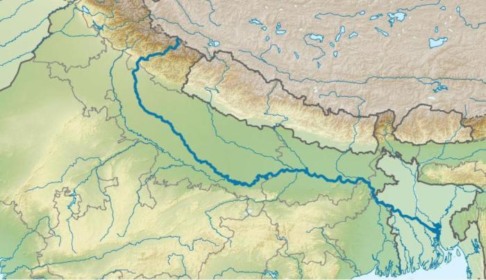 히말라야산맥으로부터인도북부대평원으로